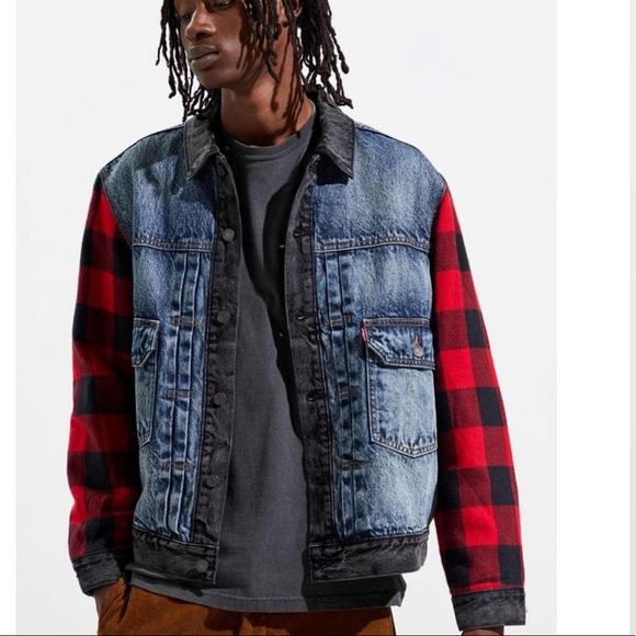 Levi's   Men's Hybrid Trucker Flannel Jacket